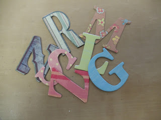 UpDate Chipboard Letters with Glitter