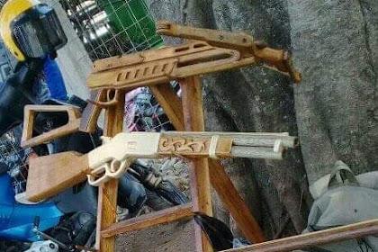 Pistol Karet Gelang (Rubber Band Gun), Mainan Yang Unik Dan Artistik