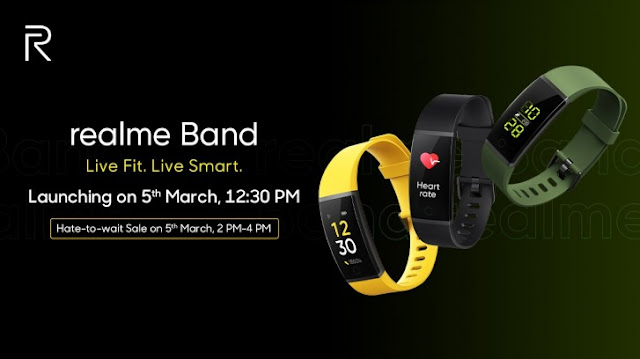 The Realme Band launching on 5th March 2020
