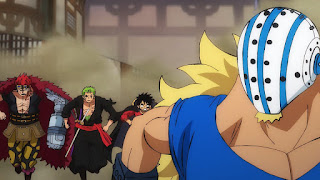 ワンピースアニメ  987話 ワノ国編   ルフィ ゾロ ユースタスキッド ギザ男   ONE PIECE Luffy  KID Zoro Killer