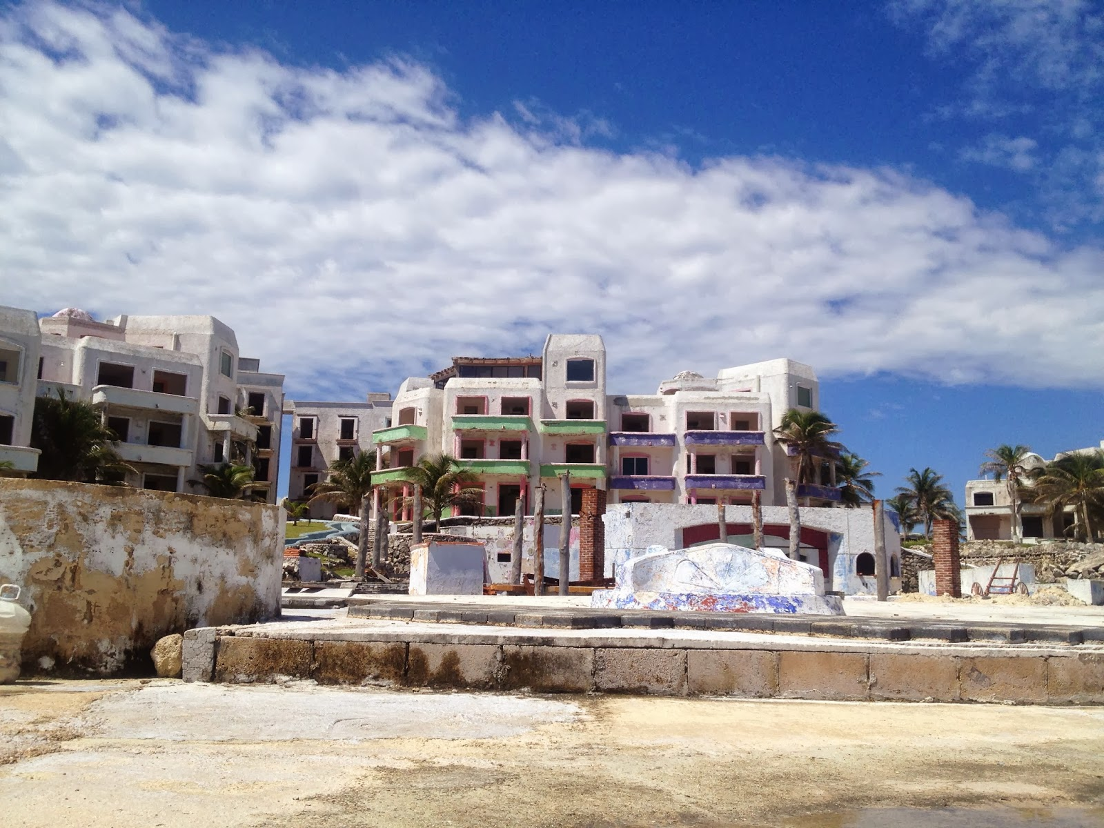 Modern Day Ruins El Pueblito Beach Resort Cancun
