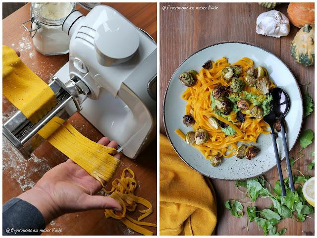 Kürbistagliatelle mit Rucolapesto | Rezept | Kochen | Essen | Nudeln