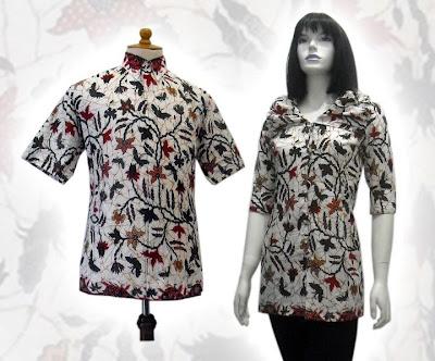 Gambar Model Baju Batik khas Solo Seragam Kantor Terbaru