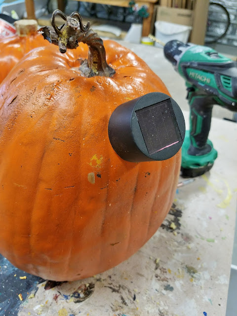 solar light pumpkin how to