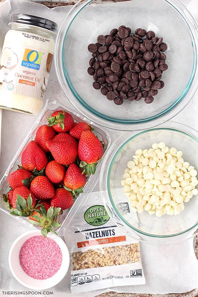 Ingredients For Making Chocolate Covered Strawberries