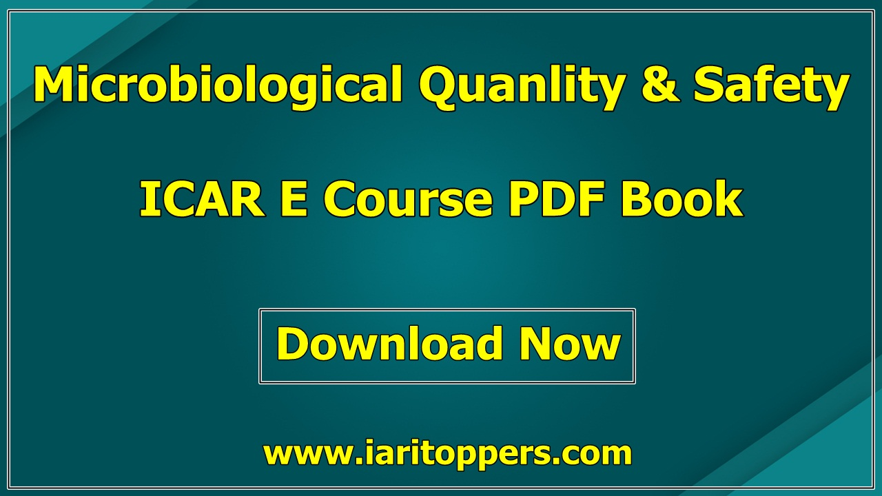 Microbiological Quality And Safety In Dairy Industry ICAR ECourse PDF Book Download
