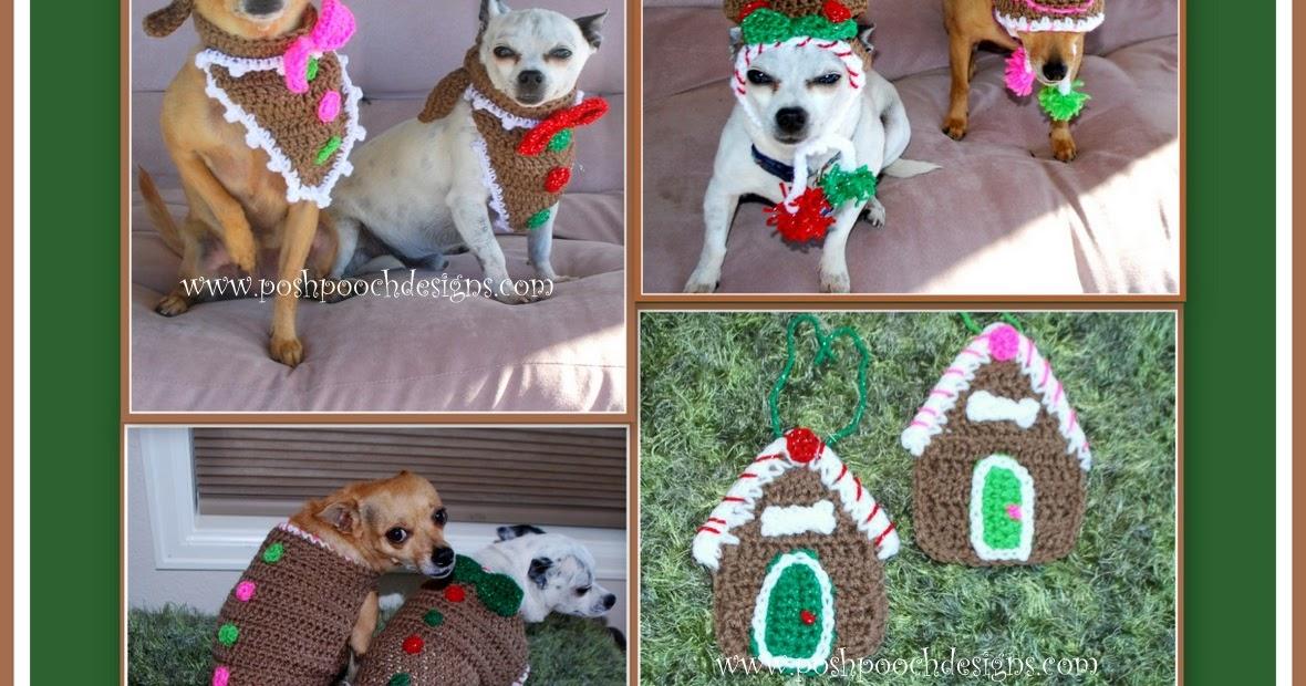 Posh Pooch Designs Dog Clothes Gingerbread Crochet