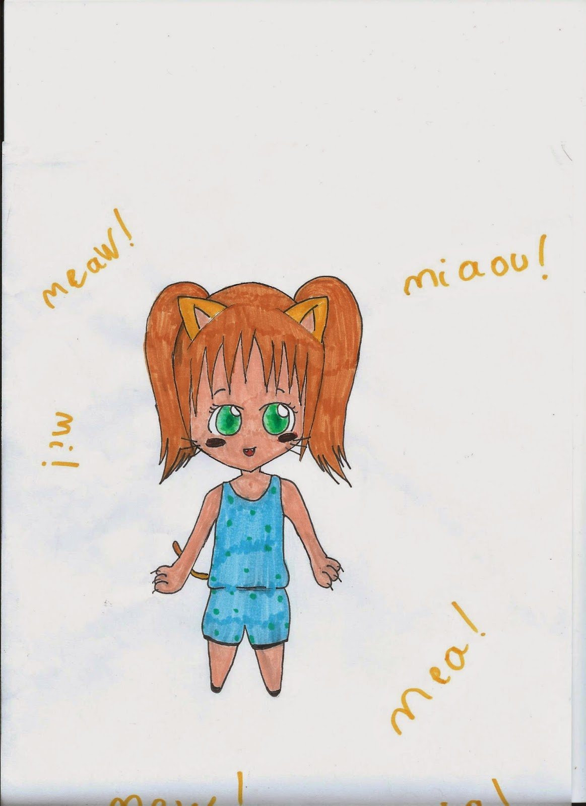 Dessin Mangas Dessin 31 Chibi Fille Chat