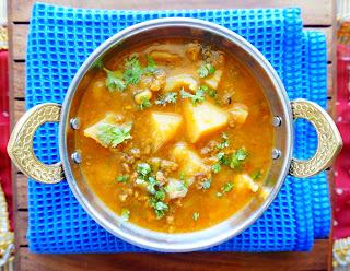 Aloo wadi, Aloo vadi,moong dal nuggets, punjabi recipes