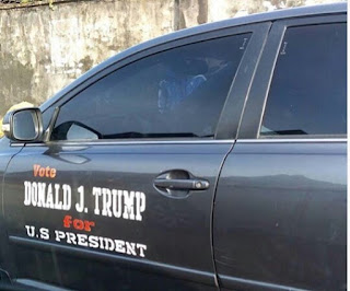 Donald Trump's Campaign Car Spotted In Nigeria (Photos)