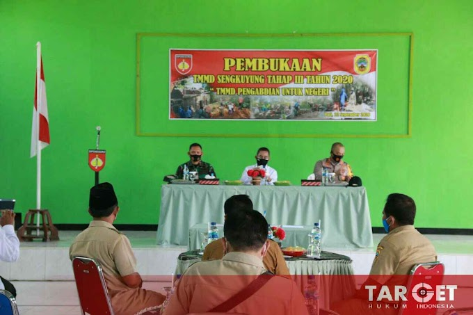 Soliditas TNI, TMMD Sengkuyung Tahap III Resmi Dibuka Oleh Bupati Haryanto