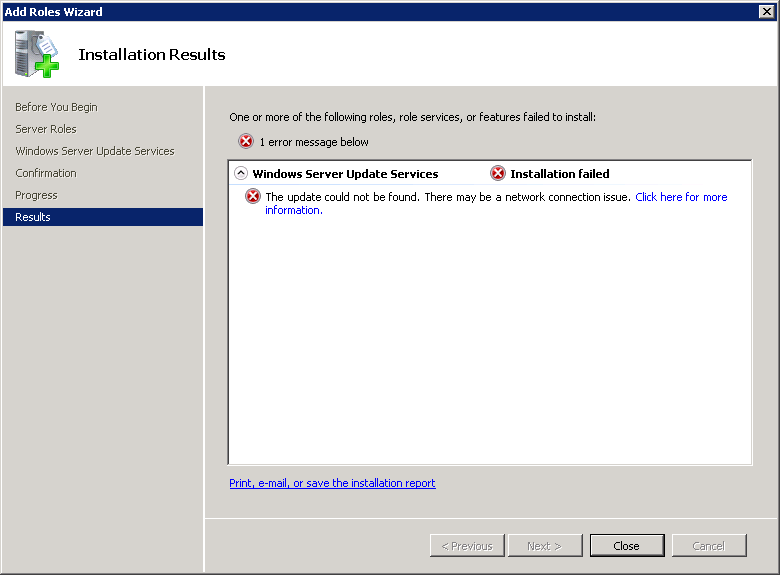Ryan Betts, Cloud Solutions Architect: WSUS for SCCM SUP install on