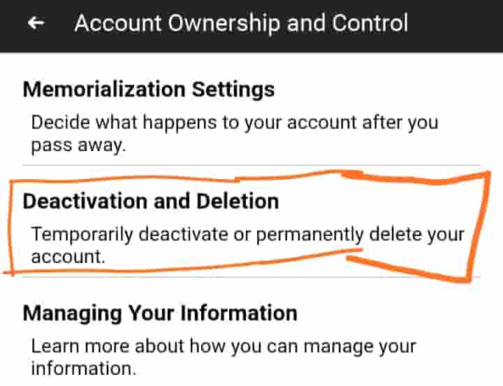 Deactivation and deletion select kare