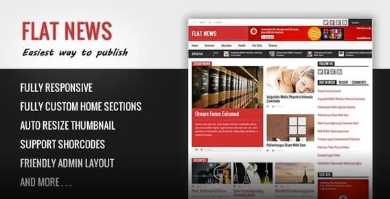 FlatNews Responsive Magazine Blogger Template Free Download