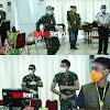 Senam Bersama Salah Satu Cara Mengatasi Kepenatan  Personel Posko Gugus Tugas Covid 19, Di Sulsel
