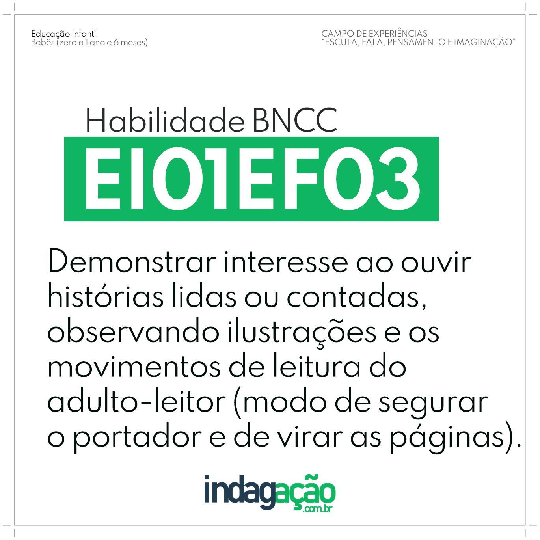 Habilidade EI01EF03 BNCC
