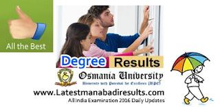 Osmania University Degree Results 2015, Manabadi OU Degree Results 2016, OU Degree 2016 Results Today, OU Degree Result 2016