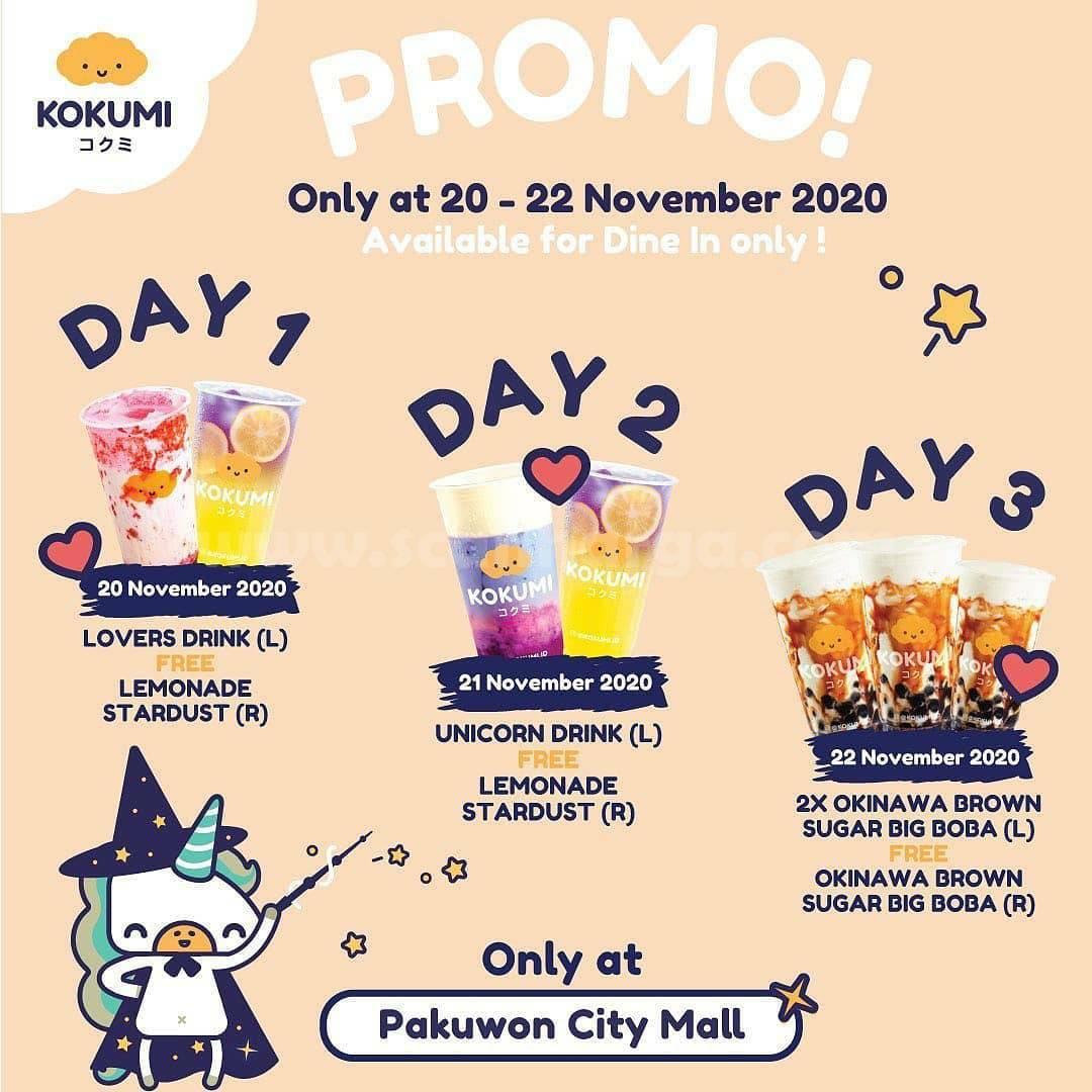 Kokumi Pakuwon City Mall Opening Promo Beli 1 Gratis 1