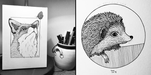 00-Sofia-Härö-Black-and-White-Ink-Animal-Drawings-www-designstack-co