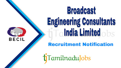 BECIL Recruitment notification 2019, govt jobs for iti, govt jobs for 8th pass, govt jobs for diploma holder, central govt jobs