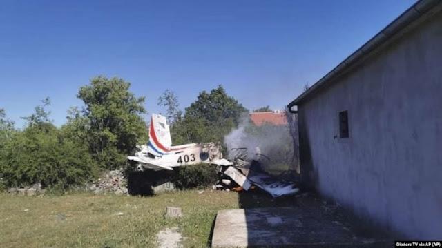 Un aereo militare si schianta in Croazia, uccidendo due persone
