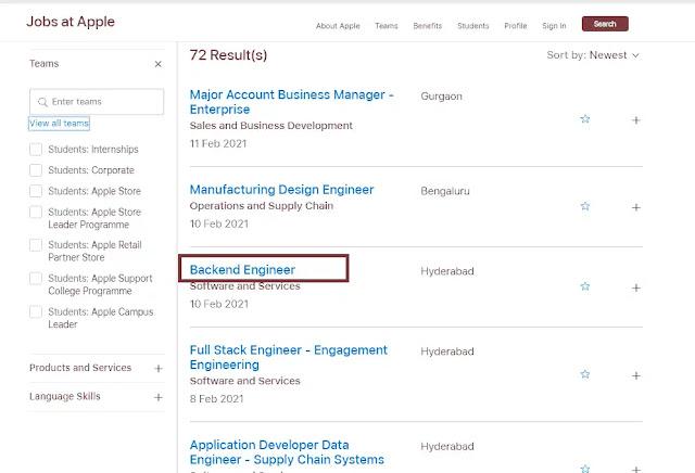 select job profile