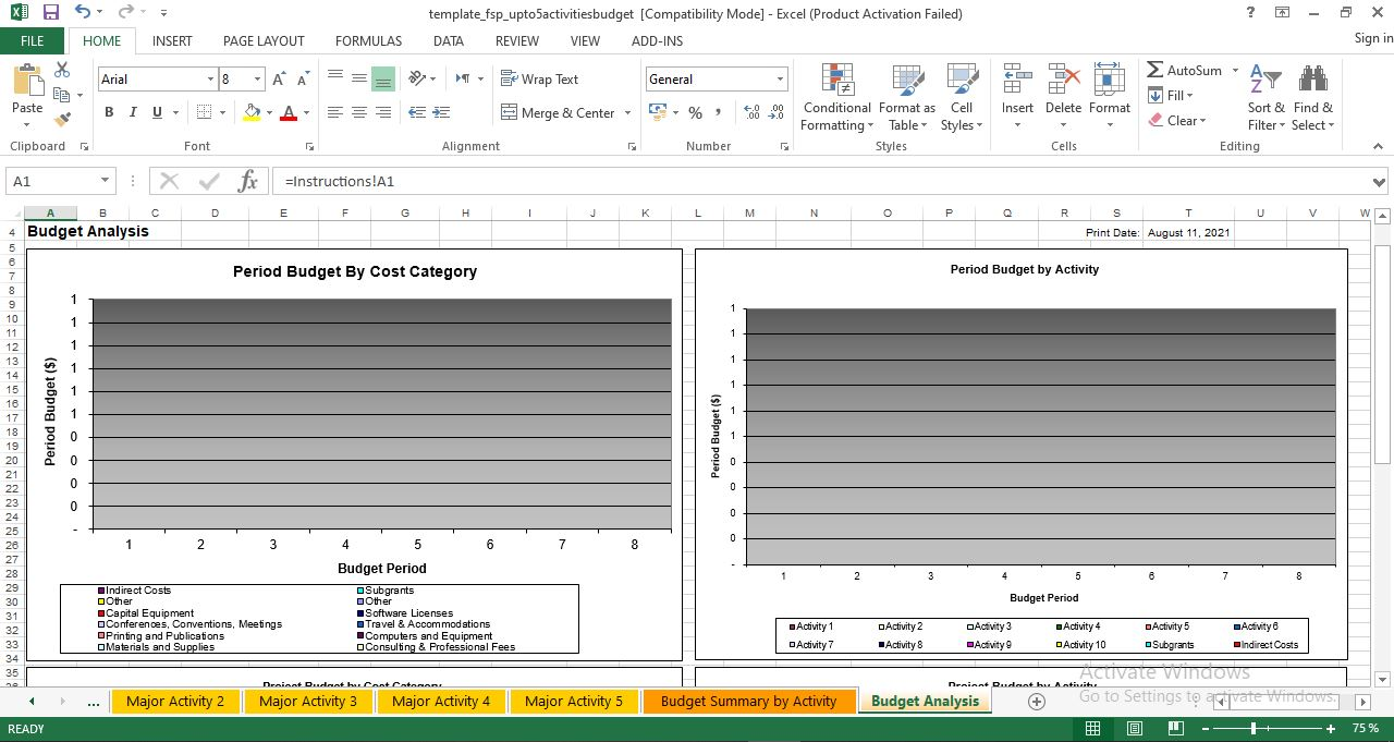 Software Project Budget Template