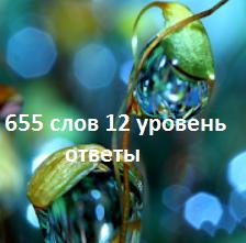 правильные ответы на 12 уровне с картинками и подсказками в словесной игре 655 слов