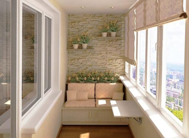 Ambiente para descanso na varanda