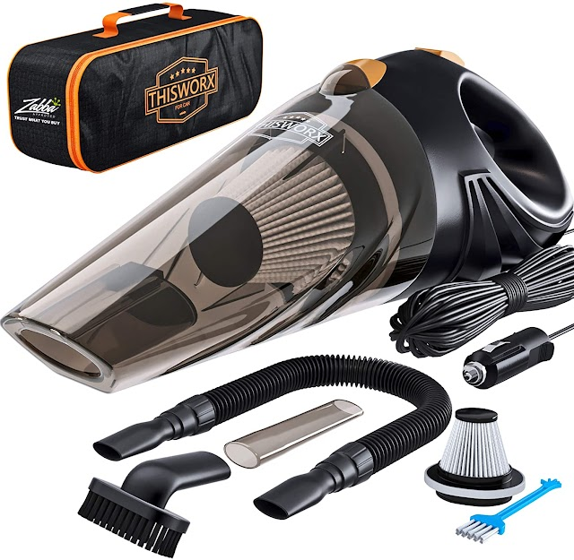 Portable Car Vacuum Cleaner for Detailing and Cleaning Car Interior