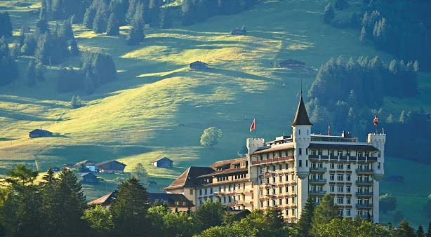 The Gstaad Palace has the biggest spa in the world and appears as castle. There are 250 people workforces to fulfill your requirements, a popular night club, two bars and five restaurants.