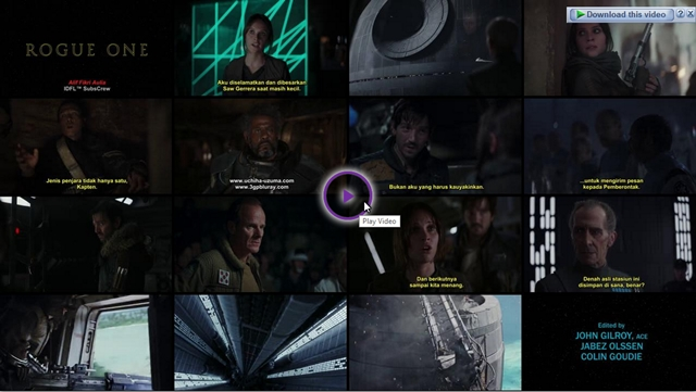 Screenshots Download Film Gratis Rogue One: A Star Wars Story (2016) BluRay 480p MP4 Subtitle Indonesia 3gp