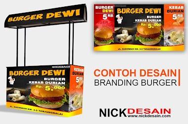 Contoh Branding Booth Burger #2 - Jasa cetak dan Desain Online