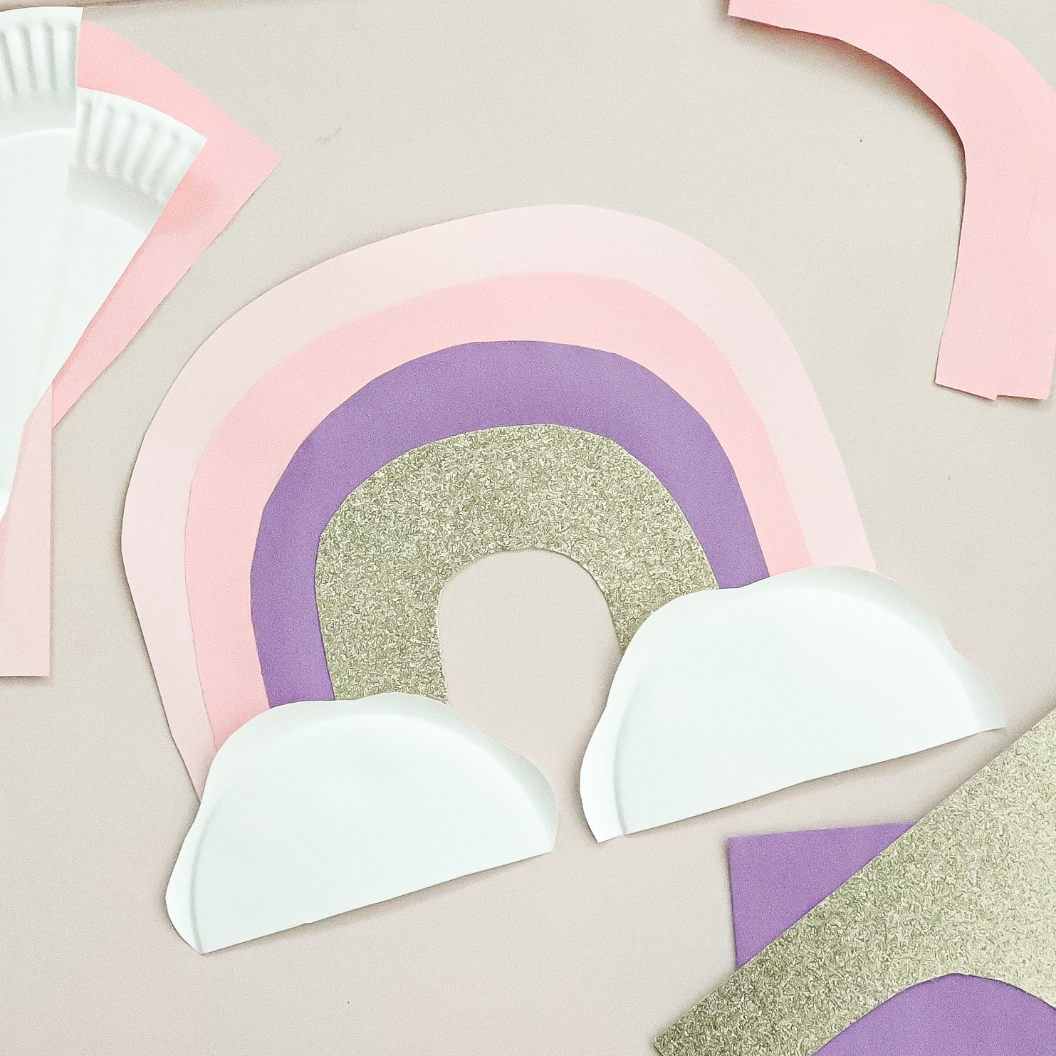 paper plate craft rainbow