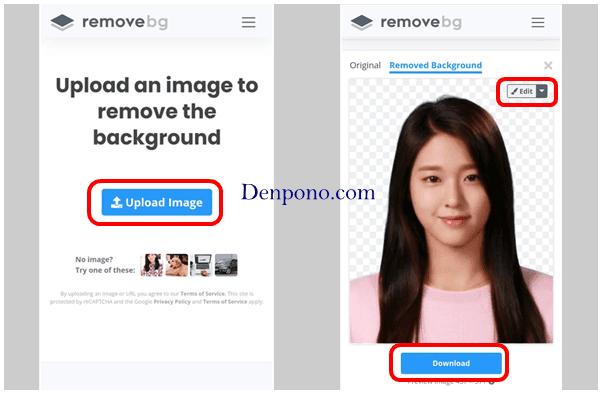 mengganti background pas foto online