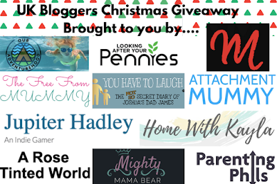 A collage of logos featuring yet more of the bloggers involved in the giveaway
