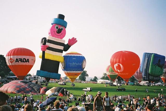 Bristol ballooning festival Ashton Court Estate during August.