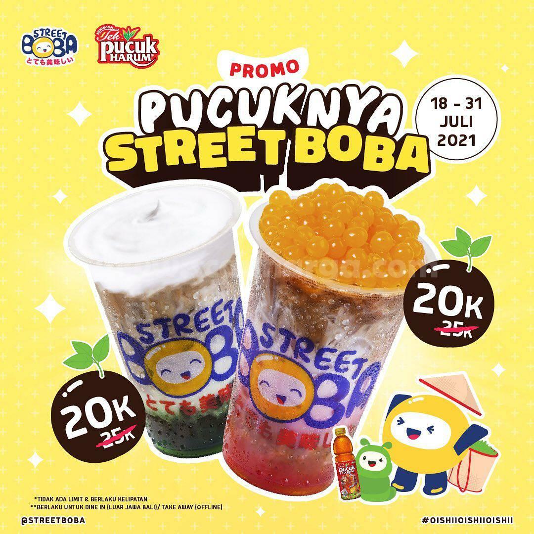 Promo Street Boba x Pucuk Harum  - Menu Baru harga hanya 20K