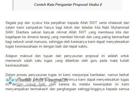 Contoh Kata Pengantar Untuk Proposal Pengajuan Dana