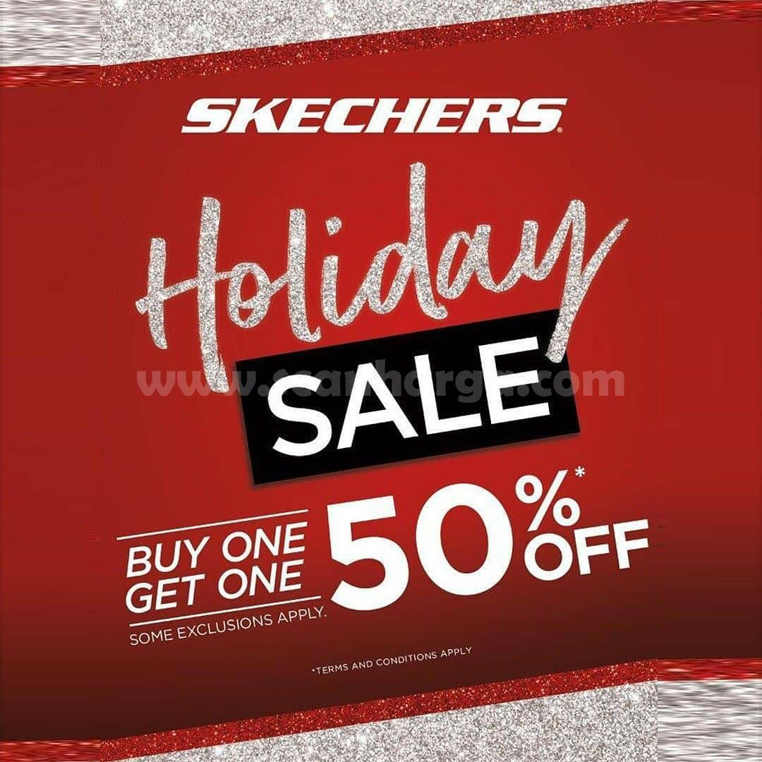 Promo SKECHERS Holiday SALE Buy 1 Get 1 up 50% Off