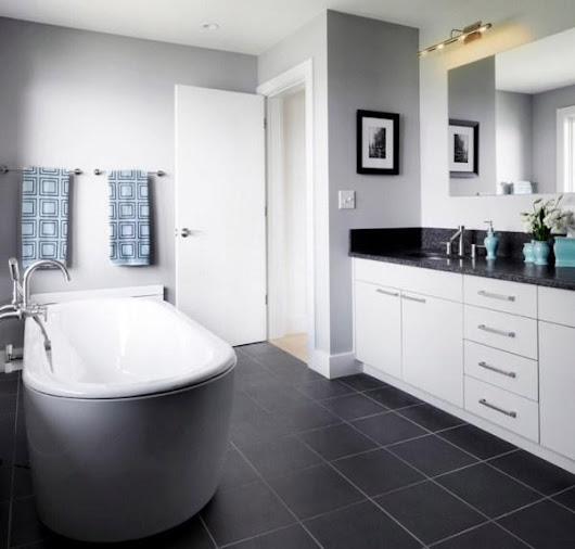 Bathrooms With Dark Tile