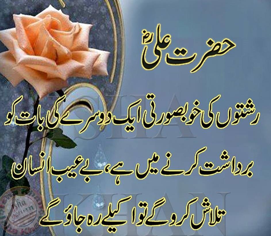 Hazrat Ali Famous Quotes In Urdu: Hazrat Ali (R.A) Islamic Quotes Images