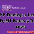 RPP Daring 1 Lembar SD/MI Kelas 5 Semester Ganjil & Genap Revisi 2020/2021