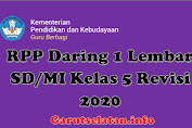 RPP Daring 1 Lembar SD/MI Kelas 5 Revisi 2020