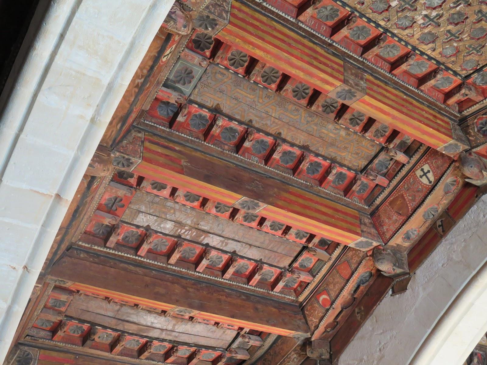 Detalle techumbre mudejar Ermita Dalt Patrimonio de la Humanidad