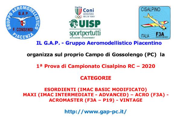 Il Gruppo Aeromodellistico Piacentino ospita la 1a Prova di Campionato Cisalpino RC