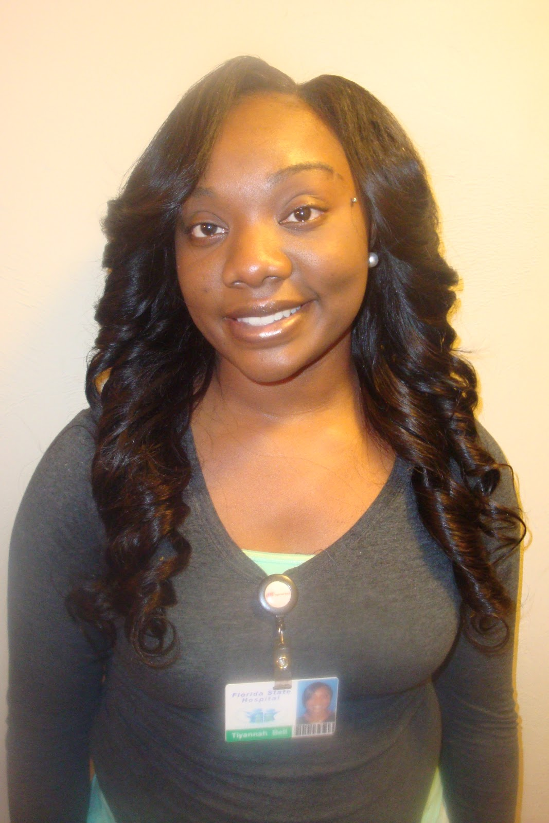 SewIn with Brazilian Hair layered and curled. 1067 x 1600.Sew In Weave Bob Hairstyles With Bangs