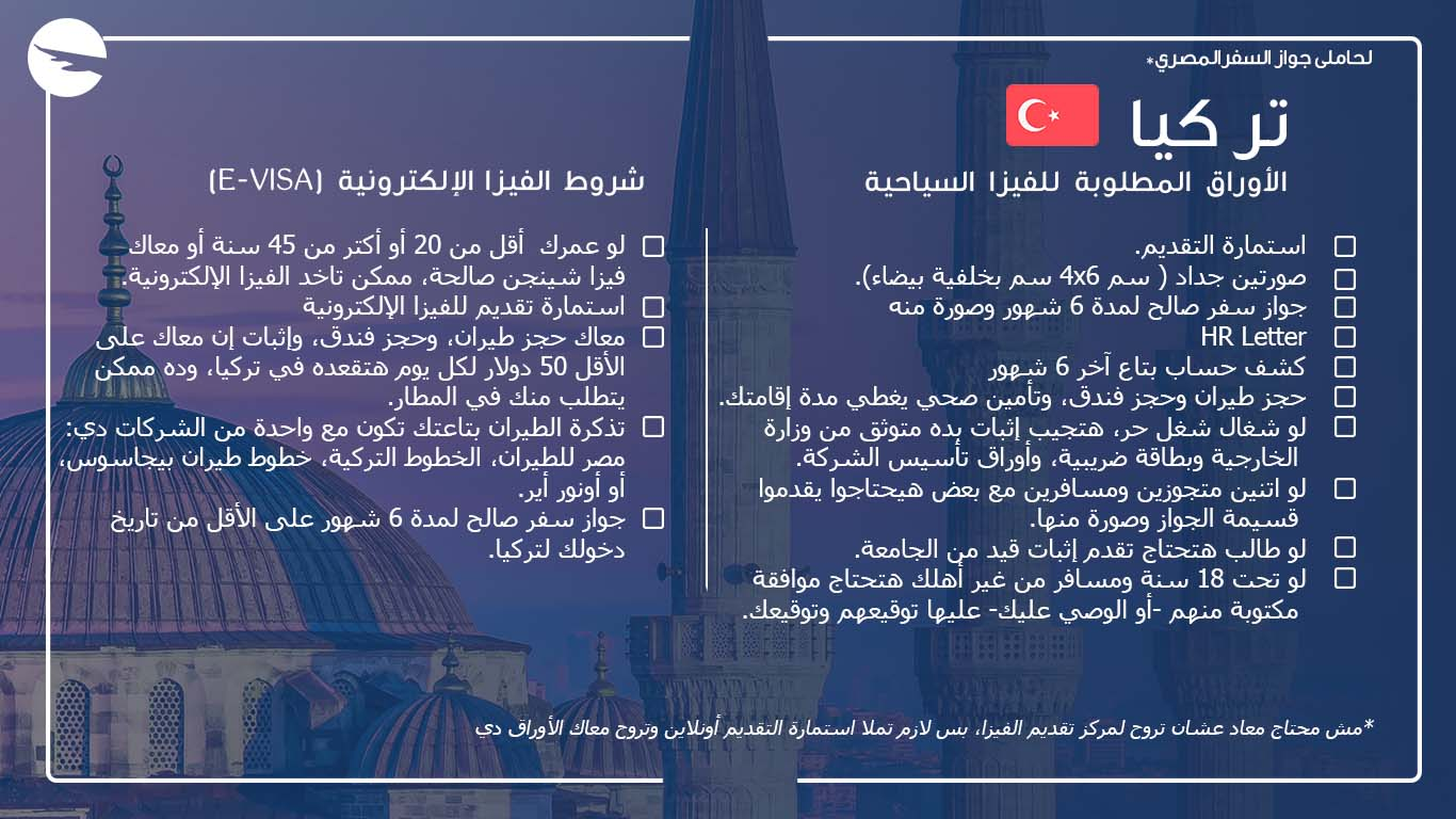 مسافر علي الهواء تأشيرة تركيا 2020 الشروط والأوراق المطلوبة والتكلفة كاملة بالتفصيل