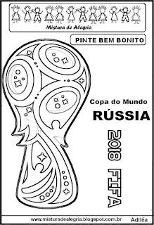 Desenho logomarca copa mundial 2018