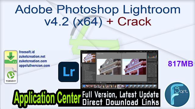 Adobe Photoshop Lightroom v4.2 (x64) + Crack